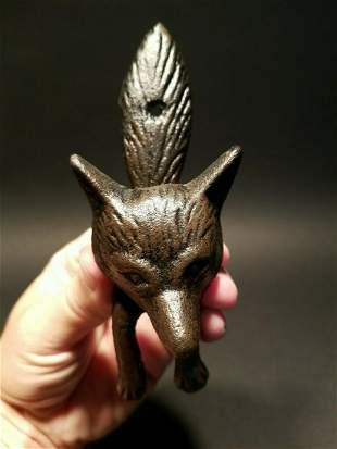 Cast Iron FOX Head DOOR KNOCKER Hardware