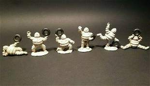 Cast Iron Mini Tire men Set of 6 Figures