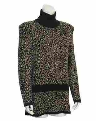 Valentino Leopard Turtleneck Sweater