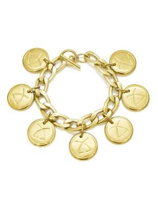 Leonard Gold Plated Charm Bracelet