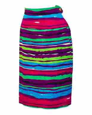 Christian Lacroix Multi-colored Cocktail Skirt