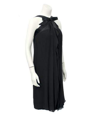 Sarmi Black cocktail dress with bow