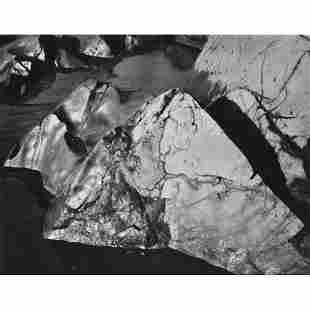 ANSEL ADAMS - Rocks, Baker's Beach, Golden Gate