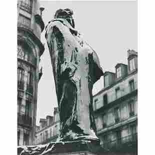"IZIS BIDERMANAS - ""Balzac"" de Rodin, rue Vavin"