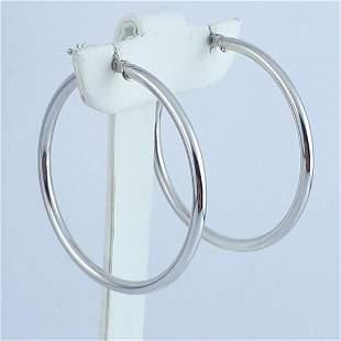 14K White Gold - Earring