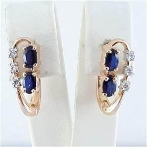 14K Pink Gold - Earring