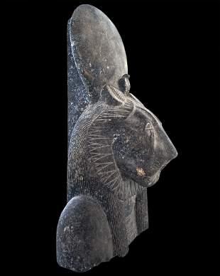 Egyptian stone statue of Sekhmet