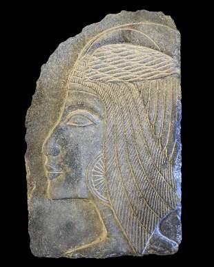 Egyptian granite fragment of a relief
