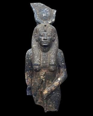 Hathor - large Egyptian granite statue
