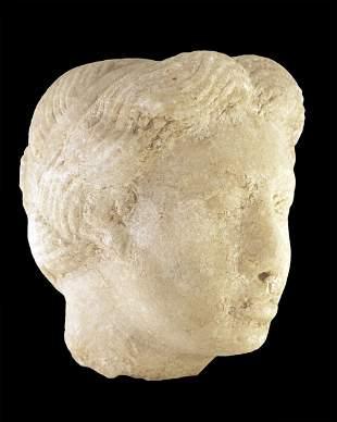 Greek Roman head of a woman