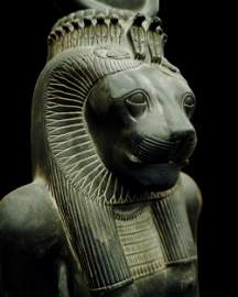 An Egyptian basalt statue of Sekhmet