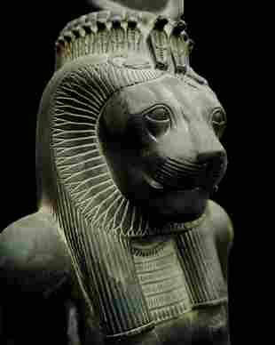 An Egyptian basalt statue of Sekhmet