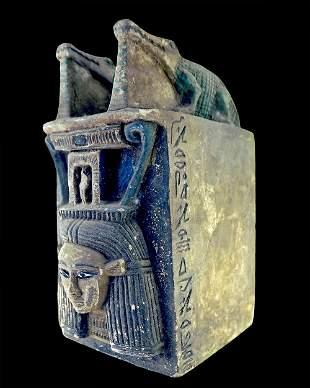 Egyptian block statue