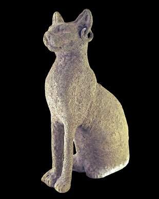 Egyptian bronze Bastet cat