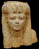 Large Egyptian granite Head of Queen Tiye