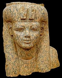 Large Egyptian granite Head of Queen Tiye