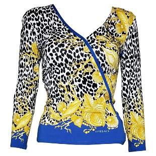VERSACE baroque leopard print sweater