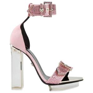 S/S 2015 look # 48 VERSACE pink crystal embellished