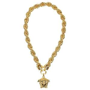 New Versace Runway 24K Gold Plated Medusa Chain