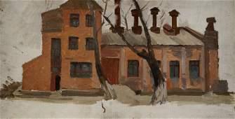 Oil painting In winter Chernikov Nikolay Vladimirovich
