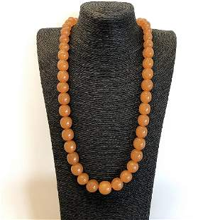 Incredible Vintage Amber Necklace made from Round Amber