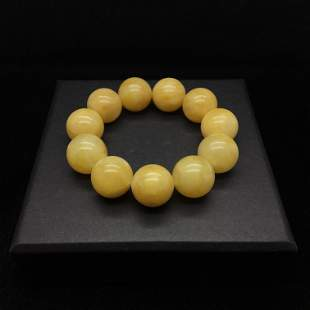 Alluring Vintage Amber Bracelet made from Round Amber