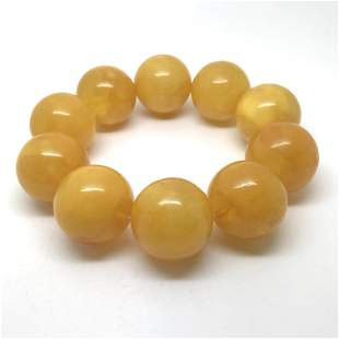 Fascinating Vintage Amber Bracelet made from Round