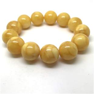 Exquisite Vintage Amber Bracelet made from Round Amber