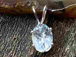 Aquamarine Natural Faceted Gemstone .925 Sterling