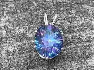 Mystic Topaz Gemstone .925 Sterling Pendant