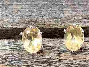 Citrine Natural Gemstone .925 Sterling Earrings