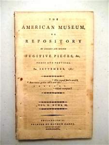 1787 Magazine First Printing of Constitution