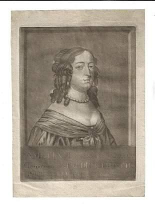18th C Mezzotint Amelia Gravinne van Solms