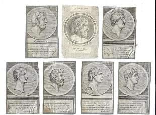 18th C Ancient Greek Notables Engravings