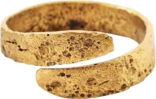 ANCIENT VIKING COIL RING C.900-1050 AD SZ 11