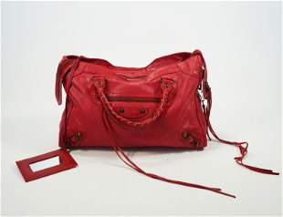 Balenciaga Classic City Bag in Cherry Red