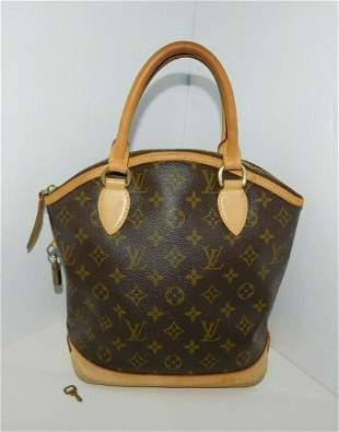 LOUIS VUITTON Lockit PM Monogram Satchel Hand Bag