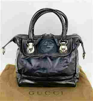 GUCCI Dialux Snow Glam Black Patent Leather Small
