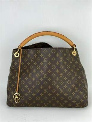 Louis Vuitton Artsy MM Monogram Hand Tote Shoulder Bag