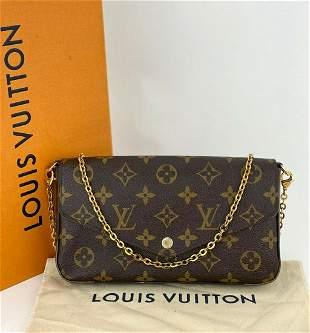 Louis Vuitton Pochette Felicie GM Monogram Clutch