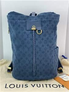 Louis Vuitton Chalk Backpack Monogram Denim M44617 New