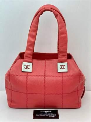 Chanel Quilted Caviar Square Stitch Medium satchel tote