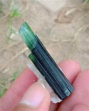 12 Gram Gorgeous Natural Green Cap Tourmaline With