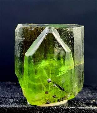 Peridot Natural Crystal ~ Rutile Peridot Terminated And
