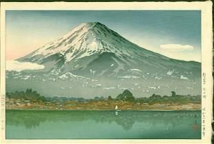 Tsuchiya Koitsu Japanese Woodblock Print - Mt. Fuji at