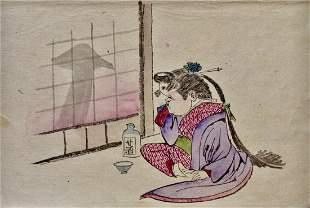 Yoshitoshi: Okame Laughing, Painting