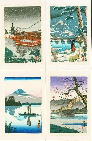 Tsuchiya Koitsu Miniature Japanese Woodblock Print -