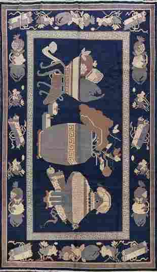 Antique Blue Khotan Egyptian Area Rug 6x10