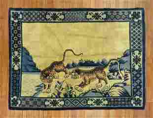 Lions Cub Chinese Rug