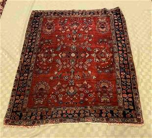 Antique Hand Knotted Persian Sarouk 3x5